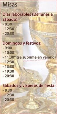 Horario de misas de la Parroquia de San Martín de Porres en Burgos