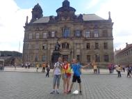 En Dresde: Jairo, Paula y Guille