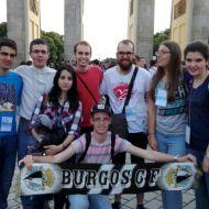 En la Puerta de Brandenburgo