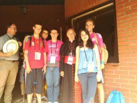 Los jóvenes de la Parroquia con el Cardenal Blázquez